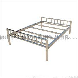 惠州不锈钢床 厂家直销公寓出租屋不锈钢床 双人单人床定制