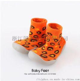 爆款儿童抖音同款纯色软底儿童袜子鞋
