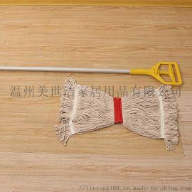 保洁公司卡式清洁棉纱拖把 可拆卸替换拖把头
