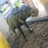 玻璃鋼水牛雕塑 鄉村耕田情景 玻璃鋼模擬動物雕塑