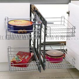 厨房置物篮橱柜拉篮全开拉篮