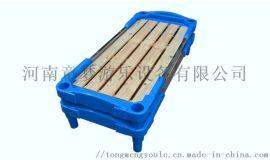 幼儿园塑料木板床儿童床幼儿园休息床厂家直销