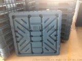 廣東廠家直銷吹塑卡板平麪塑料托盤倉庫防潮墊板叉車板