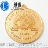 高檔掛牌製作鍍真金吊牌生產金色獎牌
