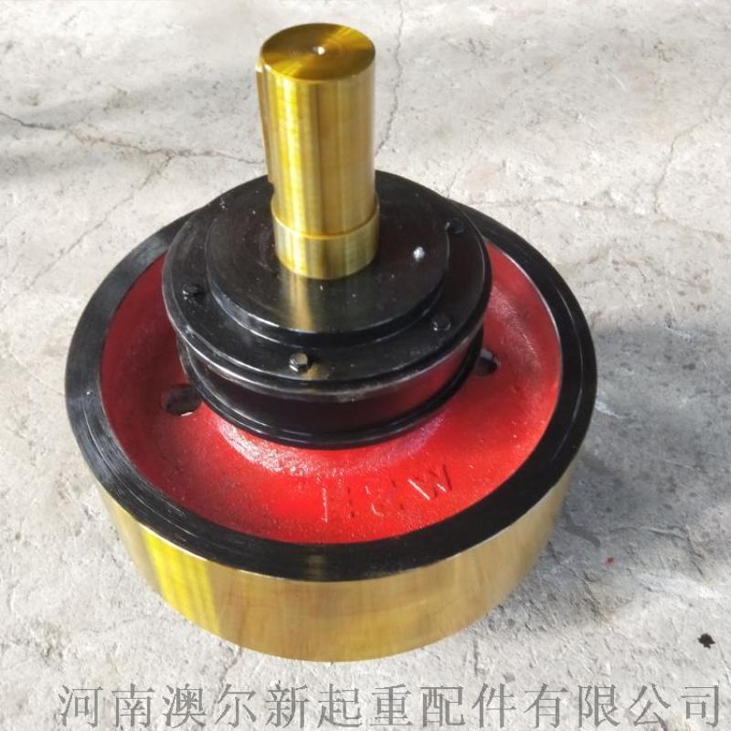定做  雙樑行車角箱輪 無沿鍛鋼車輪組  鋼包車輪