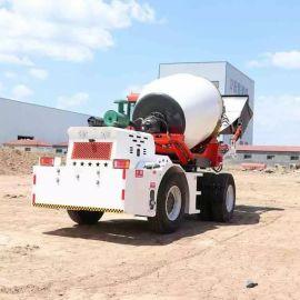 2.6方自上料搅拌车 自装料水泥搅拌车 四轮驱动
