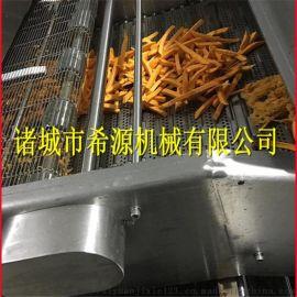 红薯地瓜条藕条上浆上粉油炸流水线 加工设备