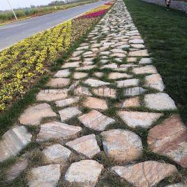 黃木紋碎拼雜色冰裂紋 不規則碎拼石材