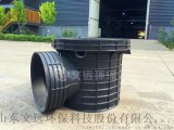 成品700塑料污水检查井-污水流槽直通井