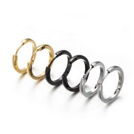 厂家直销316L不锈钢圈形耳环