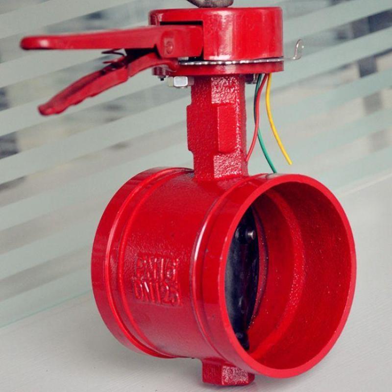 泰科信号蝶阀gd81x沟槽消防