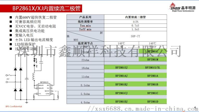 非隔离双晶省桥堆DOB方案BP2863XK系列