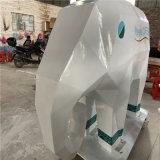 玻璃钢几何象雕塑 玻璃钢切面动物雕塑