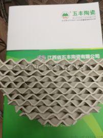 专业轻质强化瓷波纹规整填料 陶瓷波纹板