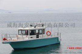 大舱艇高配快艇定制特型艇11米大飞艇玻璃钢钓鱼