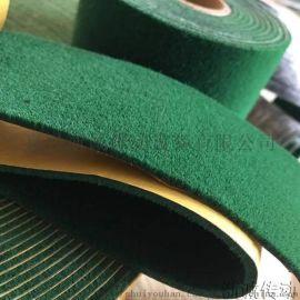 印染机用黑绒包辊带/绿绒包辊刺皮带