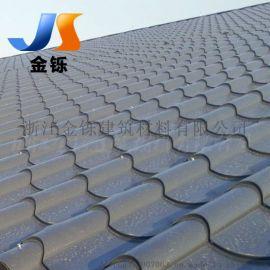 马头墙屋面金属琉璃瓦 765型铝镁锰合金屋面瓦 0.9mm厚