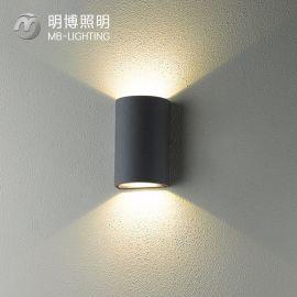 创意双头壁灯 现代上下射灯防水庭院走廊阳台墙壁灯