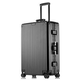 方振箱包厂家生产定做ABS+PC铝框拉杆箱行李箱