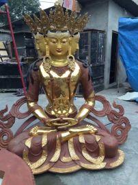 纯铜藏佛大日如来 宗教用品密宗藏佛 大型寺庙铜佛像