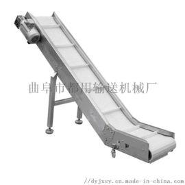 不锈钢传送机 裙边皮带输送机 六九重工 加格挡输送