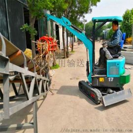 小型抓草机 轮式抓木机生产厂家 六九重工 挖掘机