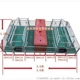 养猪设备全复合热镀锌双体母猪产床承重1000公斤