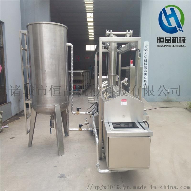 电加热豆干油炸生产线 馓子油炸设备 厂家直销