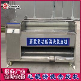全自动毛辊清洗机 土豆红薯去皮设备制造商