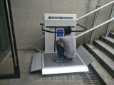 曲線斜掛電梯斜掛殘疾人電梯公園安裝無障礙平臺啓運