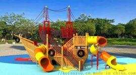 幼兒園木製攀爬架大型戶外碳化積木 塗鴉儲物櫃