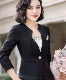批發春新款西裝外套辦公室商務女裝修身時尚百搭女套裝西服定制