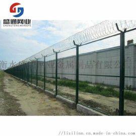 刀片刺绳防攀爬Y型柱刀片刺绳围栏 机场监狱加工供应