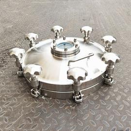 不锈钢压力容器罐底压力人孔 定做卫生级人孔
