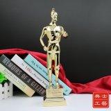 成都合金人物奖杯定制、优质工程鲁班奖杯图片