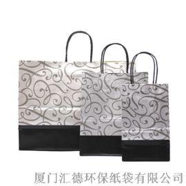 高质量带手挽牛皮纸购物袋定制批发