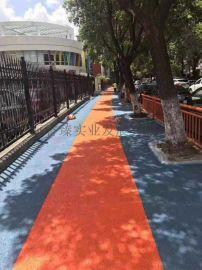 陕西延安彩色透水混凝土地坪,彩色透水地坪厂家施工