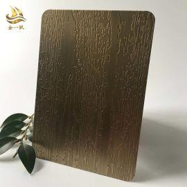 供应不锈钢镀铜板 不锈钢青古铜板定制 蚀刻板