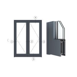 广东兴发铝材创高AL6524A|B系列内平开门