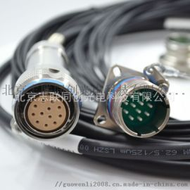 室外多芯防水连接器 光纤插头 光纤插座 IP67防水连接器光缆组件