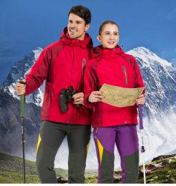 厂家定制生产定制加工户外男女二件套冲锋衣登山服