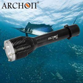 ARCHON奥瞳W28潜水手电筒 水下渔猎灯 **光远射手电筒 防水100米 1000流明