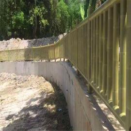 复古木纹竹管铝护栏 竹园仿竹节铝合金护栏