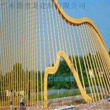 酒店  50圓管鋁型材 外牆拉彎弧形竹子鋁圓管型材