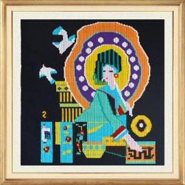 西兰卡普客厅挂画特色手工艺品中国民族非物质文化遗产 土家织锦 外贸壁挂壁饰