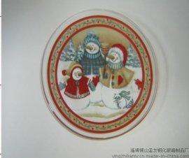 时尚圣诞玻璃盘 (圣诞-69856)