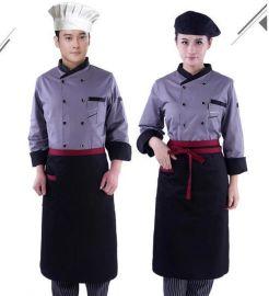 酒店中西餐厅男女厨师秋冬装工作服后厨掌厨厨师服制服