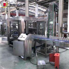 厂家直供瓶装纯净水灌装机设备 三合一液体灌装机小瓶灌装生产线