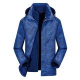 厂家直销新款户外冲锋衣女三合一两件套可拆卸防风防水男士滑雪服