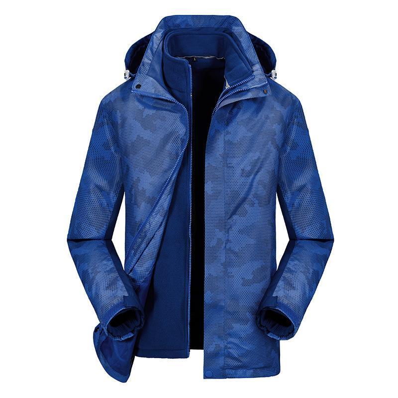 廠家直銷新款戶外衝鋒衣女三合一兩件套可拆卸防風防水男士滑雪服